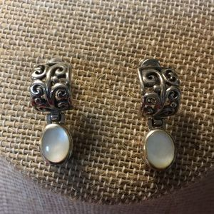 Jewelry - Sterling silver and mother of pearl earrings.
